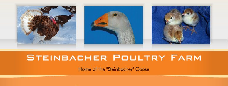 "Steinbacher Poultry Farm - Home of the ""Steinbacher"" Goose"